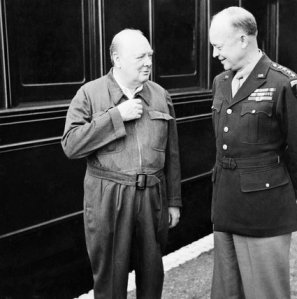 Winston Churchill and Ike Eisenhower.
