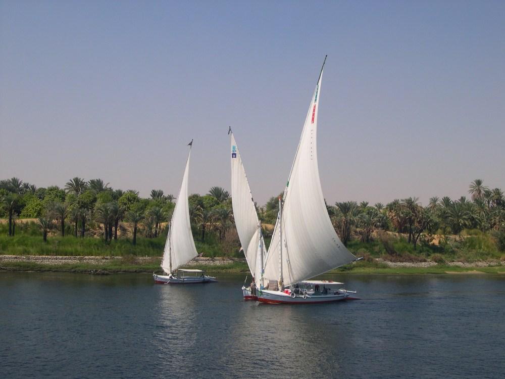 Sailing up the Nile