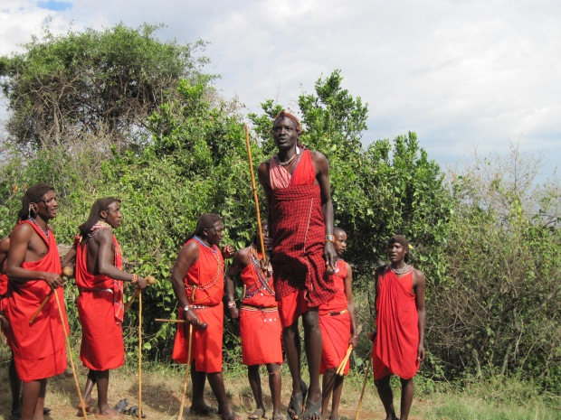 Jumping Masai Warrior